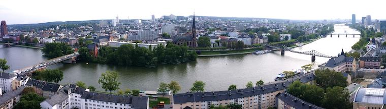 Francoforte panoramica dall'alto