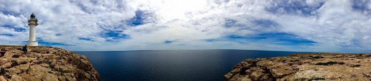 Formentera il faro della Mola panoramica