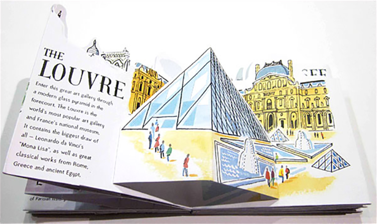 Guide illustrate pop-up edite Lapis Parigi