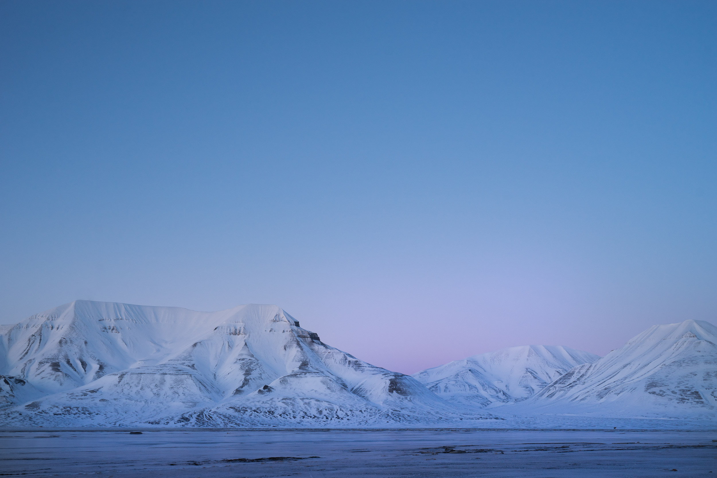Tramonto alle Svalbard