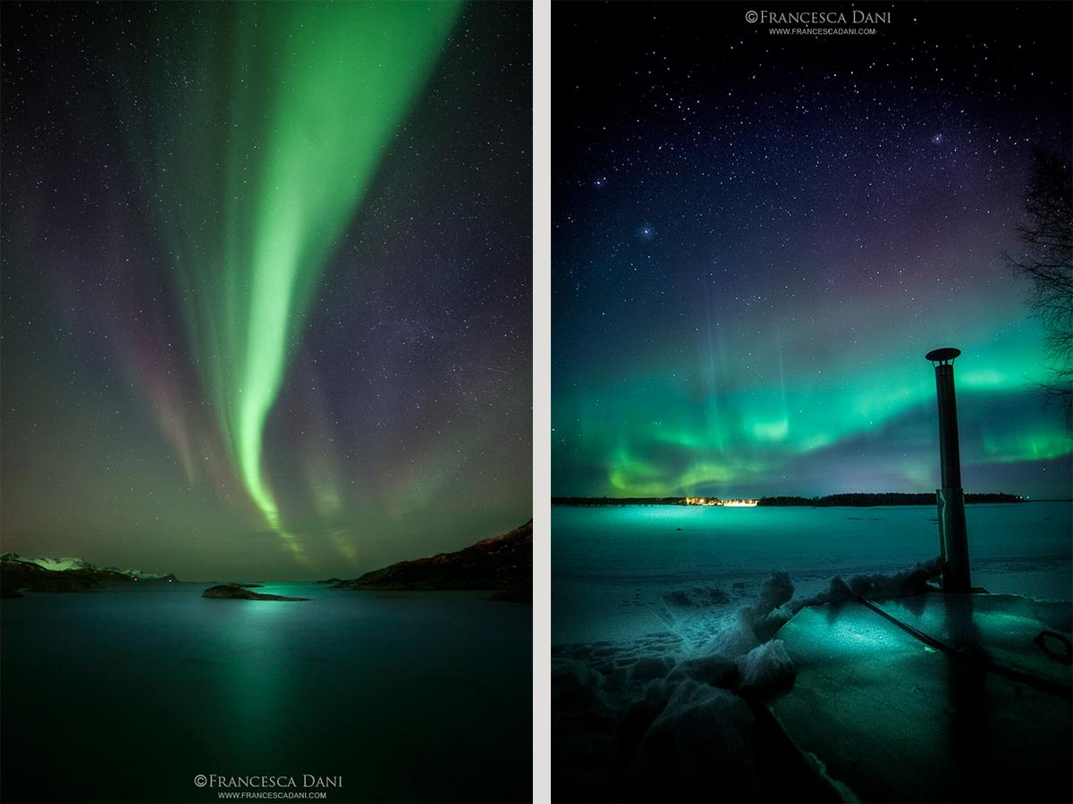 aurora boreale in Finlandia
